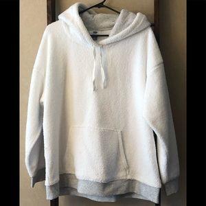 NWOT White Fleece Pullover